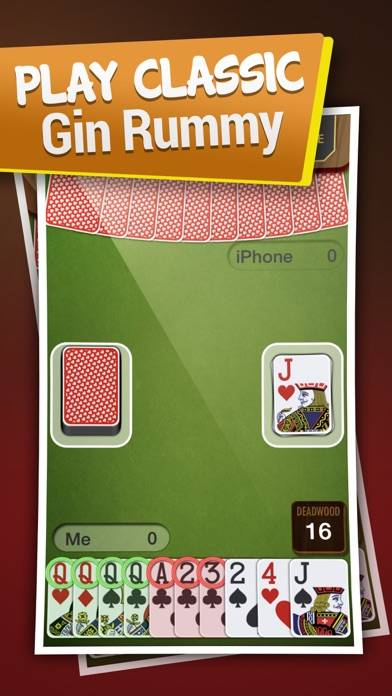 Gin Rummy for iPhone Walkthrough (iOS)