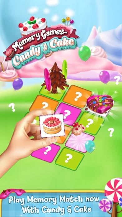 Memory Game : Cake and Candy