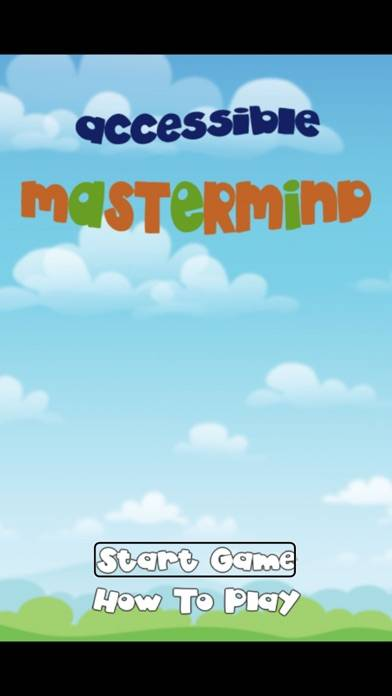 Accessible MasterMind Walkthrough (iOS)