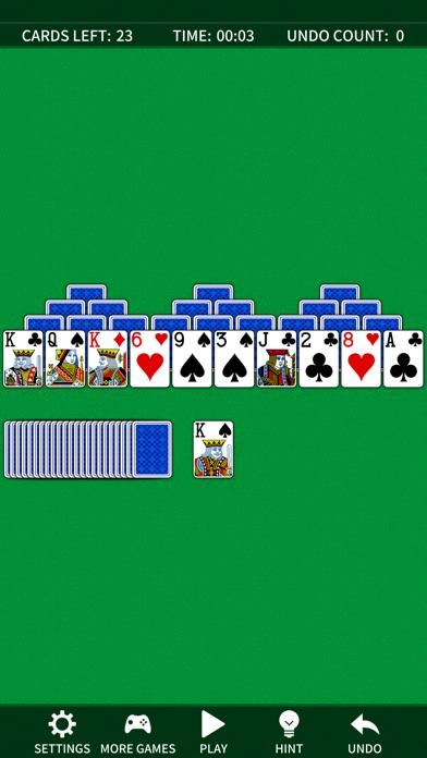 TriPeaks Solitaire. Fun simple card game Walkthrough (iOS)