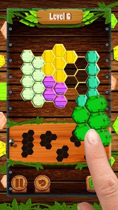 Hexa Wood Block Puzzle! Walkthrough (iOS)