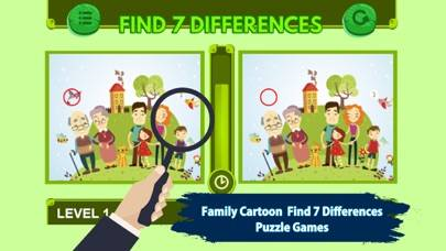 Family Cartoon Find 7 Difference Game