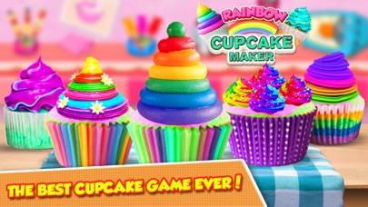 Cooking Colorful Cupcakes Game! Rainbow Desserts