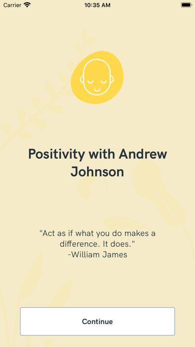 Positivity with Andrew Johnson