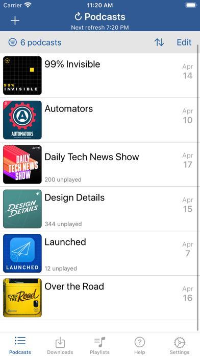 iCatcher (a podcast catcher app)