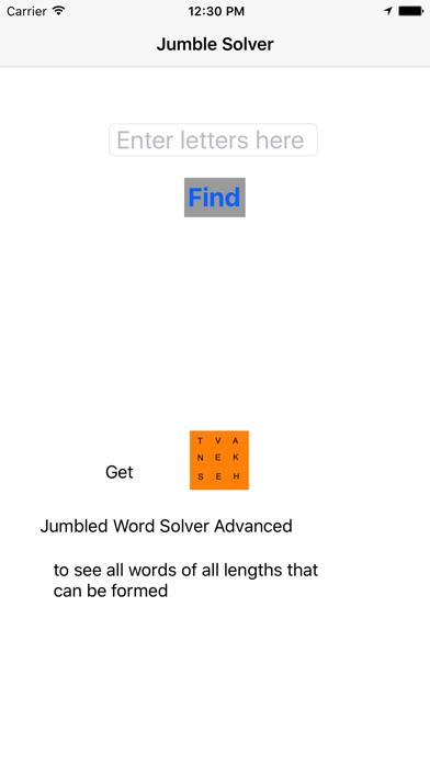 Jumbled Word Solver