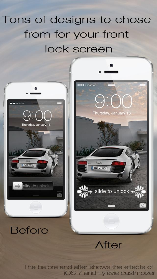 Lock Screen Slider Overlay Wallpapers Pro - Custom