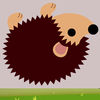 Free Brown Hedgehog Rolling Icon