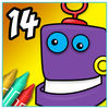 Coloring Book 14 Robots Now Available On The App Store
