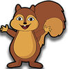Squirrels on the road Icon