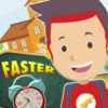Faster to School Hurry up Icon