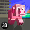 Blockhead Pig City Rampage 3D Full Icon