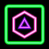 Neon Poly  Shape Puzzle Game