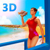 Beach Lifeguard Emergency Rescue 3D Full Icon