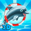 Cute Dolphin Show 3D Full Icon