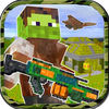 3D Pixel Shooter World Survival Craft