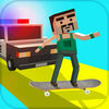Simulation Game BLOCKY SKATER THE ENDLESS GAME Now Available On The App Store