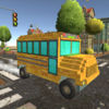 Pixel School Bus Free Style Driving Icon