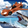 Angry Shark Flying Car Shooting