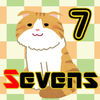 Cat Sevens Playing card game pure