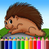 Porcupine Coloring Book Games Animal Education