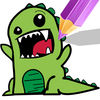 Coloring Book Painting Games Dinosaur Cartoon Now Available On The App Store