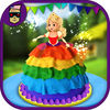 Rainbow Doll Cake MakerKids Make Cakes