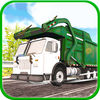 City Dump Garbage Truck Driver Icon