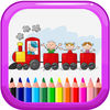 Magic Train Games Coloring Book Education
