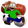 Falling Sport Balls Icon