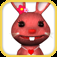 Talking Rabbit Toddler Game Icon