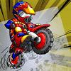 Motocross Challenge Doodle Icon