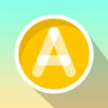 ABC Writing in Flat Design Icon